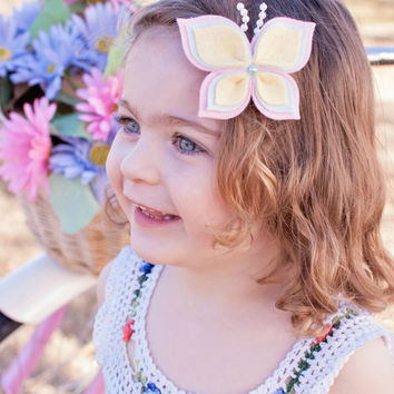 Butterfly Hair Clip - Butterfly Headband - Felt Hair Clip - Felt Hair Accessory - Headbands - Hair Clips - USA made felt - Children Baby