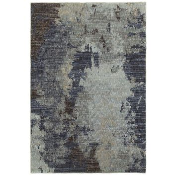 Oriental Weavers Evolution Navy/Blue Abstract 8049B Area Rug