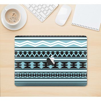 "The Vector Blue & Black Aztec Pattern V2 Skin Kit for the 12"" Apple MacBook"
