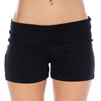 Zenana Outfitters Flexible Fit Yoga Shorts - Black