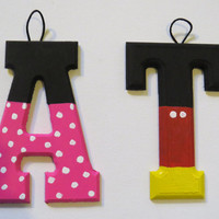 Mickey and or Minnie Personalized Letters, name or numbers! Customize options!