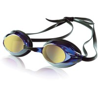 Speedo Vanquisher Plus Mirrored Swim Goggle, Blue