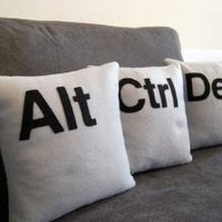 Alt - Ctrl - Del Three Pillow Set- PILLOW COVERS ONLY review at Kaboodle