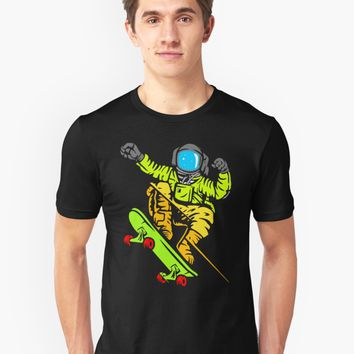 'Skate Color Of Space' T-Shirt by Dewa Pamungkas