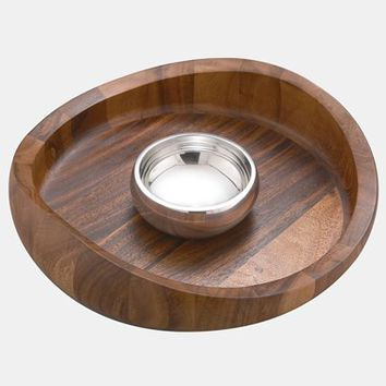 Nambe 'Butterfly' Chip & Dip Bowl