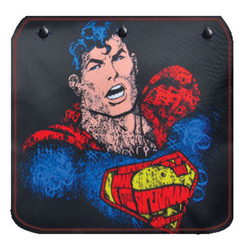 Superman Text Art Flap for Messenger Bag