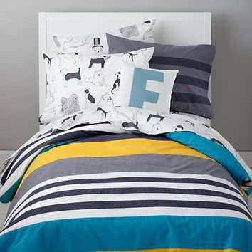 The Land of Nod | Boys Bedding: Striped Boys Bedding in Boy Bedding