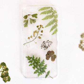 Green phone case iPhone 7 and 7 plus | iphone SE case | dried leaf iphone 6 case | custom gift