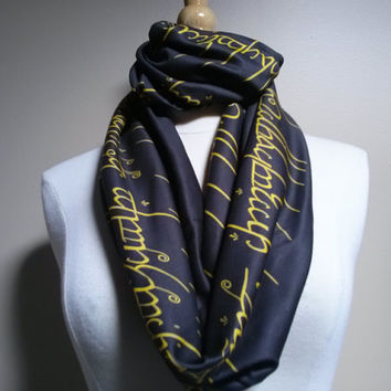 Lord Of The Rings, Lord Of The Rings Scarf,The Hobbit, LOTR,  TootSweetSkirts LOVE Introductory Price!