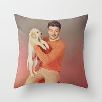 Liam Payne One Direction Labrador Retriever Puppy Throw Pillow by Toni Miller | Society6