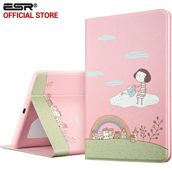 ESR PU Leather Folio Case Stand with Fashion Cute Cartoon Design and Smart Case for iPad mini 1 2 3