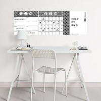 WallPOPS 3-Piece Dry Erase Combo Board Set with Monogram Kit in Black/White