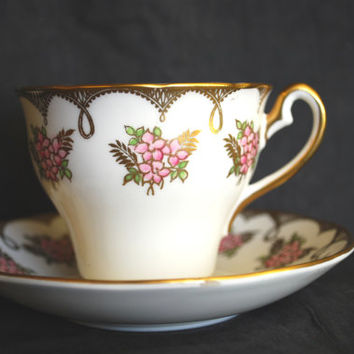 Tea Cup and Saucer from England and Mark Salisbury , Fine Porcelain Tea Set