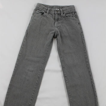 Boys Janie and Jack Gray Denim Pants, size 8