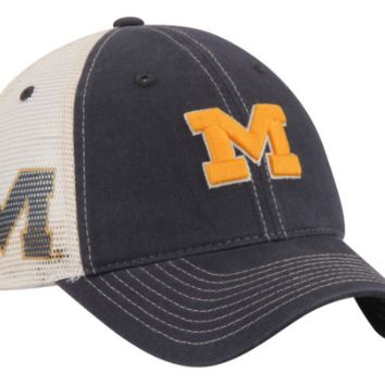 Men's Zephyr Michigan Wolverines Sideout Meshback Slouch Trucker Adjustable Snapback Hat