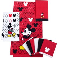 Mickey Mouse Decorative Bath Collection - 6 pack Washcloth - Walmart.com