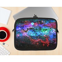 The Neon Colored Paint Universe Ink-Fuzed NeoPrene MacBook Laptop Sleeve