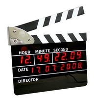 Big Size Movie Slate Digital LED Style Clock