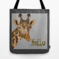 Hello Tote Bag by ArtLovePassion