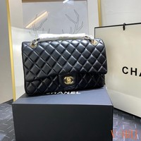 HCXX 19Aug 463 Fashion Classic Embossing Chain Flap Bag Simple Quilted Bag
