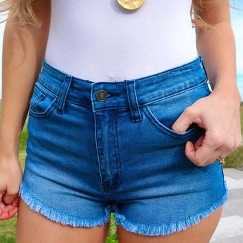 Can't Stop You Shorts: Denim