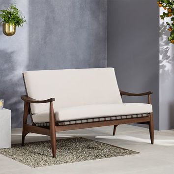 "Outdoor Show Wood Loveseat (53"")"