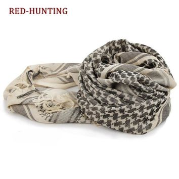 Outdoor Hiking Scarves Military Arab Tactical Desert Scarf Army Shemagh KeffIyeh Shawl Scarve Neck Wrap