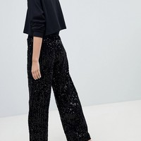 New Look Velvet Sequin PJ Bottoms at asos.com