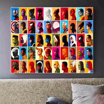 Marvel Superheroes Canvas Art Print Painting Poster Wall Pictures For Room Home Decoration Wall Decor No Frame