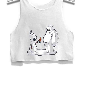 LMFP7V Best Friend forefer Womens Crop Tank Top