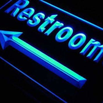 Left Arrow Restrooms Neon Sign (LED)