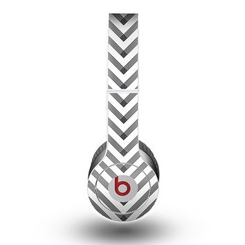 The White & Black Sketch Chevron Skin for the Beats by Dre Original Solo-Solo HD Headphones