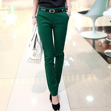 Trousers for women Spring-Autumn New Office Lady 2016 Women pants female Fashion Haren Pencil Pants Ladies Casual Trousers