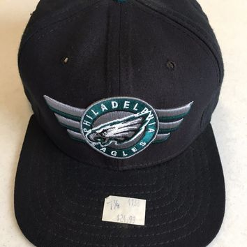 RETRO NEW ERA PHILADELPHIA EAGLES BLACK HAT W/ GRAY UNDER FITTED HAT