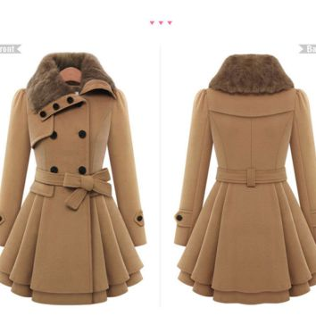 Womens Beautiful Long Stylish Winter Coat