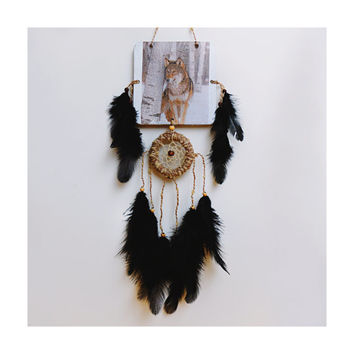 Dreamcatcher Wall Hanging Home Decor Dreamcatcher Wolf Amulet Talisman Drem catcher