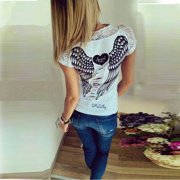 Lacey Angel Wing Tee