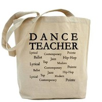 Dance Teacher Words Tote Bag
