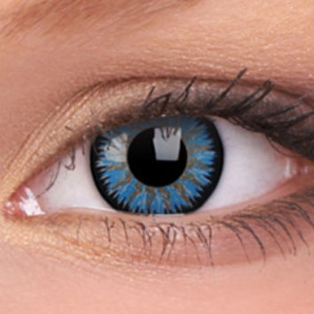 Glamour Aqua Colour Contact Lenses, Glamour Aqua Contacts | EyesBright.com