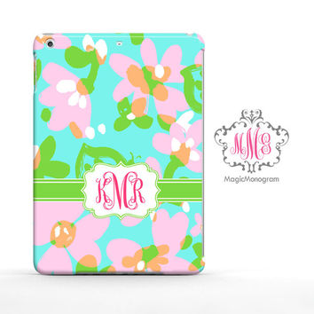 Mojo Pastel Lilly Pulitzer Monogram iPad Air Case, iPad Mini Case