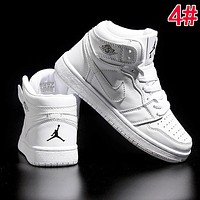 Nike AIR JORDAN 1 Hot Sale Women Men High Top Sport Running Shoes Sneakers 4#