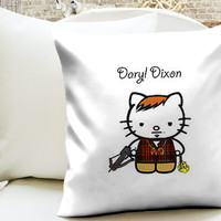 Daryl Dixon Hello Kitty Pillow Cases