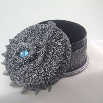 Dragon eye trinket box polymer clay stash box