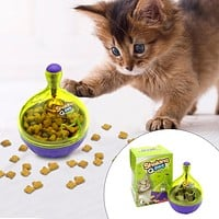 Interactive Cat  IQ Treat Ball Toy Smarter Pet Toys Food Ball Food Dispenser For Cats Playing Training