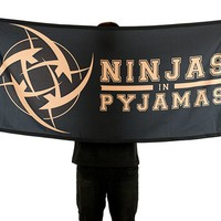Ninjas In Pyjamas Team Flag - Black