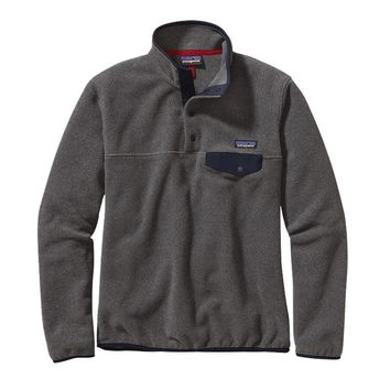 Patagonia Women's Lightweight Synchilla® Snap-T® Pullover | Nickel w/Navy Blue