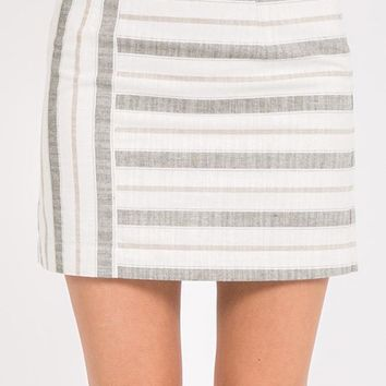 Divided Attention Mini Skirt - Olive