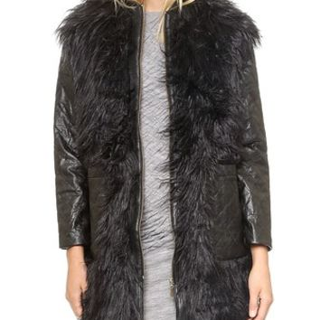 Shakuhachi Yeiti Imitation Fur Coat