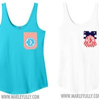 Monogrammed Girlfriend Pocket Tank