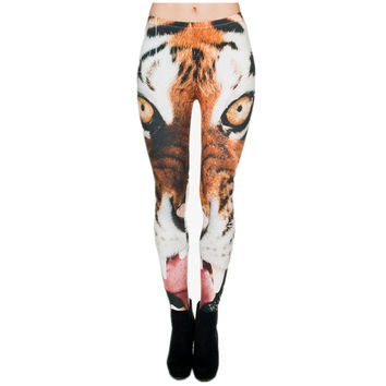 Soft 3D Printing Tiger Women Leggings Knitted Sexy Leggins Causal Tayt Fitness Leggins Calzas Mujer Jeggings New Legins Girls